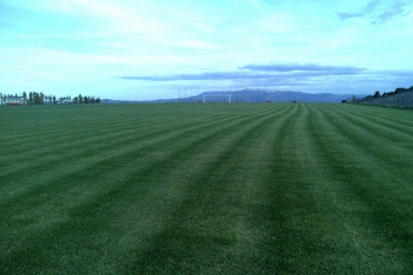 Soccer fields ready for use
